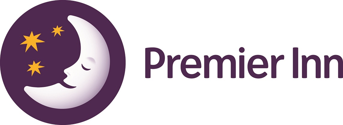 The Premier Inn sleeping moon logo.