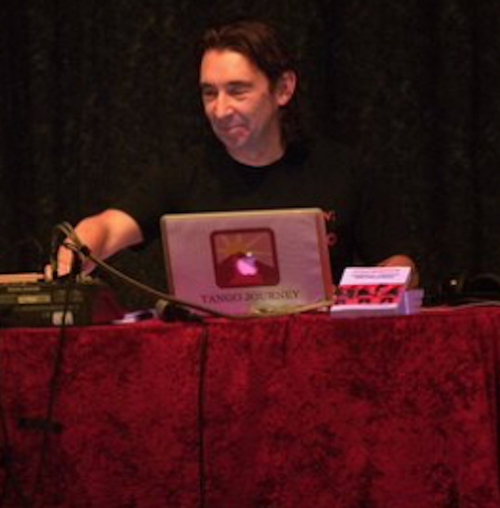 David Thomas in action as a DJ.